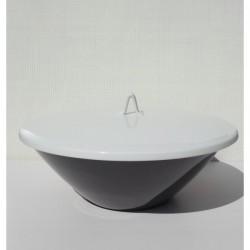 Miniatuur stoeltje Verner Panton wit