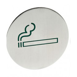 Deurschildje rvs roken...