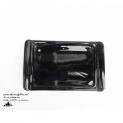 Zwarte glazen onderschotel...